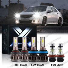 Combo H11 9005 H11 Led Headlight Conversion Bulbs High Low Beam Fog Light 6000K