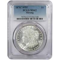 1878 7/8TF Strong Morgan Dollar MS 62 PCGS 90% Silver $1 US Coin Collectible