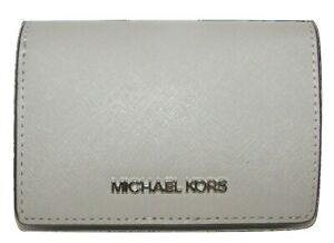 MICHAEL KORS Pearl Grey Leather Bifold Wallet NWT