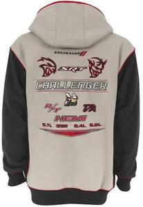 Sweatshirt Zip-up Black Gray Fits Dodge Challenger Men's Large Each