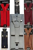 ADJUSTABLE BRACES MENS WOMENS UNISEX TROUSER ELASTIC SUSPENDERS CLIPON 35mm