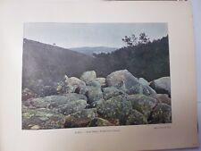 SUISSE BRETONNE/ Gravure 19° in folio couleu /SAINT-HERBOR: ROCHER DE LA CASCADE