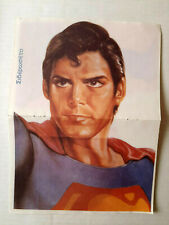 Superman Christopher Reeve 1979 Greek Mini Magazine Double Page Iron On