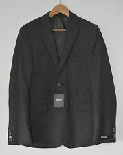 DKNY Donna Karan New York dark grey blazer suit jacket wool 36 Regular