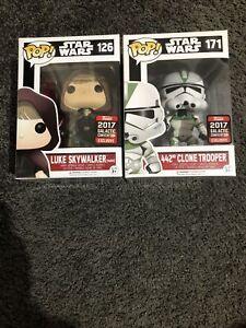 Pop Funko Star Wars Luke Skywalker 126 442nd Clone Trooper 171 Galactic Con
