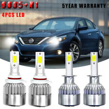 4Pc 9005 H1 Combo Hi/Lo Beam LED Headlight Bulbs Kit For 2002-06 Nissan Altima