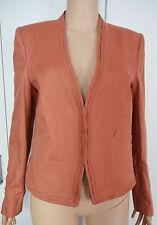 New Laura Ashley size 12 Linen Brown Orange Pure Linen Smart Jacket