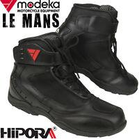 MODEKA Motorradschuhe LE MANS wasserdicht Leder Hipora Reflex Stiefel Gr. 45