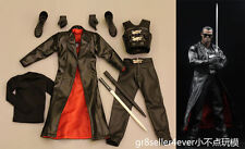Custom 1/6 Scale Male Blade Wesley Snipes Outfit Swords Weapon Model Toys