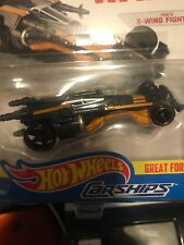 Hot Wheels Star Wars Carships first order Poe's Tie fighter Mint Disney New