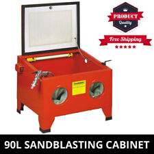 Sandblaster Sandblasting Cabinet Heavy Duty Portable 90L Sand Blasting Sandblast