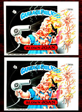 1987 Garbage Pail Kids GPK ~ BLOWN JOAN #265b ~  2 CARDS with DIFFERENT BACKS