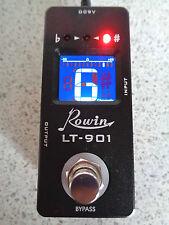 Pedal Afinador Cromático Rowin LT-901 Mini con una verdadera by-pass