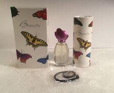Avon Butterfly Cologne Spray 1 fl oz New In Box 1996 With 3.4 Oz Talc/Neck Lace