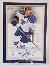 2005-06 UD BEEHIVE DOUG WEIGHT AUTO 5X7 BOXTOPPER BLUES PG-DW