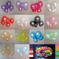 "New 100 PCS Birthday Wedding Baby Shower Party Pearl Latex Balloons 10"" Ballons"