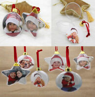 New Christmas Photo Frame Pendant Tree Picture Hanger Home Party Decoration Xmas