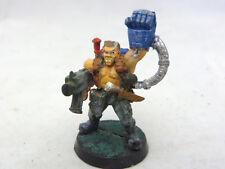 Warhammer 40k Imperial Guard Captain w power fist  OOP metal