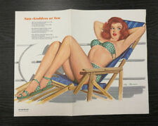 Esquire Girl Pin Up Print by Al Moore, 1948