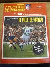 15/09/1975 Atletico Madrid: 'Revista Atletico De Madrid' Official Monthly Public