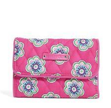 NWT Vera Bradley Euro Wallet in Pink Swirls Flowers 14446 198 QQ