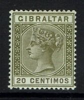 Gibraltar SG# 24, Mint Hinged, Minor Gum Crease -  Lot 112916