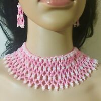Crystal beads Necklace and Earrings Set