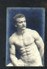 REAL PHOTO PROFESSIONAL WRESTLER BODY BUILDER EUGENE SANDOW POSTCARD COPY