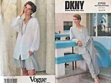 VOGUE Misses' Jacket,Shirt,Shorts & Pants DKNY Pattern 2703 Size 12-16 UNCUT