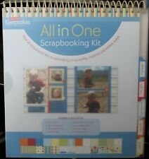 "CREATING KEEPSAKES All-in-One 8"" x 8"" Scrapbooking Kit - BOY Themed - NEW"