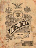 Louis Vuitton Advertisement Metal Sign