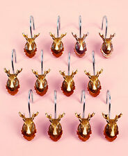 Wildlife Wall Hanging Shower Curtain Hooks ~ Elegant ~ New In Box ~ Lqqk!