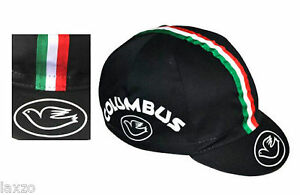 Cinelli Columbus Cotton Cycling Race Cap Black Vintage Fixed Gear Made In Italy