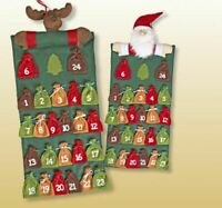 Adventskalender Weihnachten Dekoration Adventszeit zum selber befüllen Filz