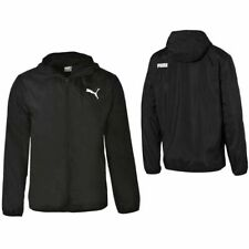 Puma Windbreaker Windrunner Zip Up Black Track Top Jacket 854054 01