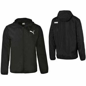 Puma Windbreaker Windrunner Zip Up Black Track Top Jacket 854054 01