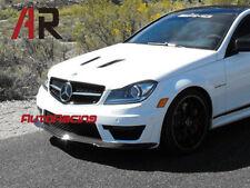Black Series Carbon Fiber Front Bumper Lip For 2012+ W204 C204 C63 AMG Only