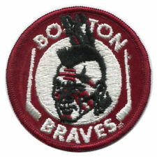 """Vintage Early 1970s Ahl Boston Braves 3"""" Round Patch (sew on)"""