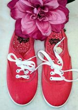 Girls'  PINK SNEAKERs sport casual lace up Faded glory size 13 shoes youth