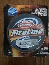 Berkley FireLine Crystal Fishing Line 4 LB 125 Yards