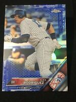 2016 Topps Chrome Baseball ALEX RODRIGUEZ BLUE REFRACTOR #d 103/150, NY YANKEES