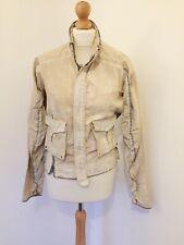 Firetrap Jacket UK 10 Nude Paint Splatter Zip Up Coat Presley Destroyed Style