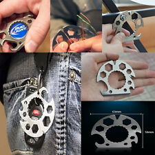 1Pc Outdoor Tool Pocket Wrench Screwdriver Bottle Opener Key Chain Keyring Cool