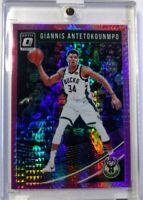2019-20 Panini Donruss Optic Hyper Pink Prizm Giannis Antetokounmpo #85, Bucks