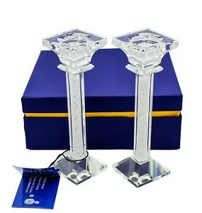 Candle Sticks Holder Made with Crystals From Swarovski, Pair Tealights, Gift Box