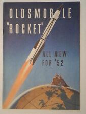 OLDSMOBILE ROCKET orig 1952 USA Mkt Small Format Sales Brochure