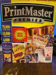 Print Master Premier (Windows 95 & 3.1 CD-ROM) NEW