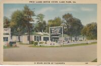 Lake Park, GA - Twin Lakes Motor Court - Exterior and Signage - Grounds - 1938