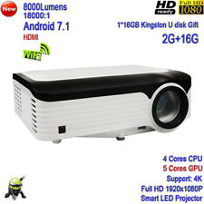 2020 New 4k 8000Lumens LED Projector Full HD 1080P Home Theater Tv Cinema HDMI