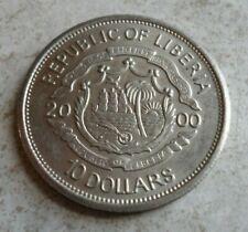MILLENIUM 2000 LIBERTY $10 COPPER NICKEL COIN OF LIBERIA